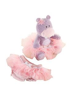 Baby Aspen Lady Lulu & Baby Tutu Plush Hippo & Bloomers Set - Baby 0-6 Mos.