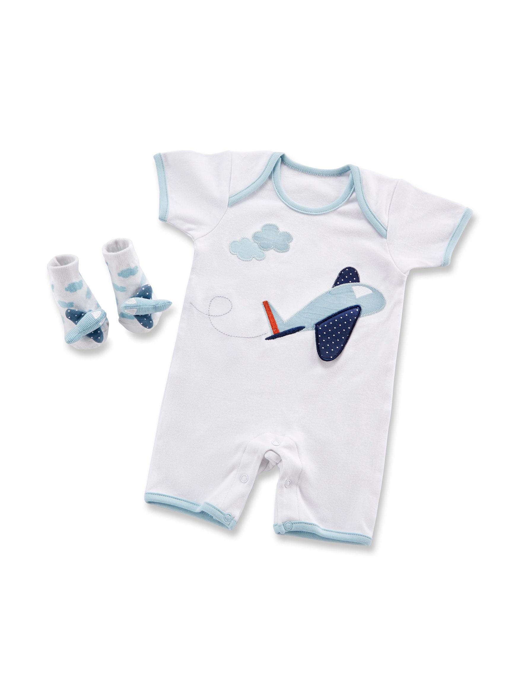 Baby Aspen Blue / White