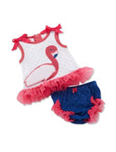 Baby Aspen 2-pc. Fancy Flamingo Tunic & Diaper Cover Set - Baby 0-6 Mos.