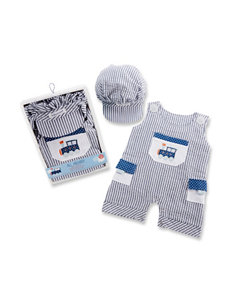 Baby Aspen 2-pc. All Aboard Romper & Hat Set - Baby 0-6 Mos.
