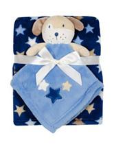 Baby Gear 2-pc. Dog Buddy & Star Print Blanket