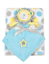 Baby Gear 2-pc. Lion Buddy & Dotted Print Blanket