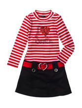 Pinky I Love Santa Dress - Toddler & Girls 4-6x