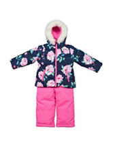 Carter's® 2-pc. Floral Print Snowsuit - Girls 4-6x