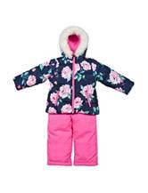 Carter's® 2-pc. Floral Print Snowsuit - Girls 4-6x