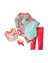 Baby Gear 5-pc. Cheetah Print Bodysuit & Pants Set - Baby 0-9 Mos.