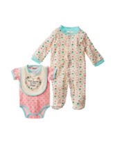 Baby Gear 3-pc. Thank Heaven For Little Girls Bodysuit Set - Baby 0-6 Mos.