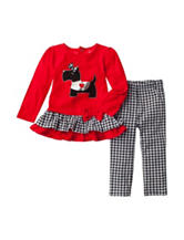 Baby Gear 2-pc. Scotty Dog Top & Print Leggings Set - Baby 12-24 Mos.