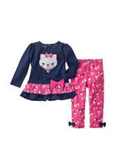 Baby Gear 2-pc. Cat Print Leggings Set - Baby 12-24 Mos.