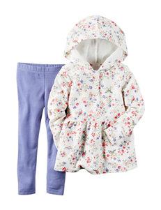 Carter's® 2-pc. Floral Print Hoodie & Leggings Set – Toddler Girls