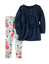 Carters® 2-pc. Navy Top & Floral Print Leggings Set - Girls 4-8