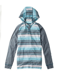 Point Zero Striped Print Raglan Hoodie - Boys 8-20