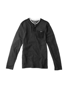 Point Zero Herringbone Henley T-shirt - Boys 8-20