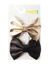 Capelli 2-pk. Metallic Satin Bows