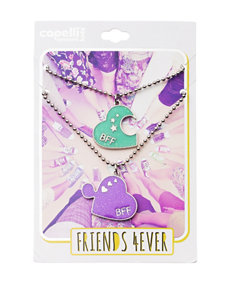 Capelli BFF Heart Puzzle Piece Necklace Set - Girls