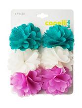 Capelli 6-pk. Chiffon Flower Clips