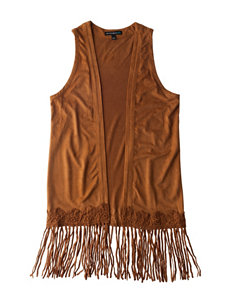 My Michelle Fringe Fuax Suede Vest - Girls 7-16