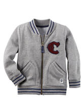 Carter's® Heather Grey Baseball Jacket – Toddler Boys
