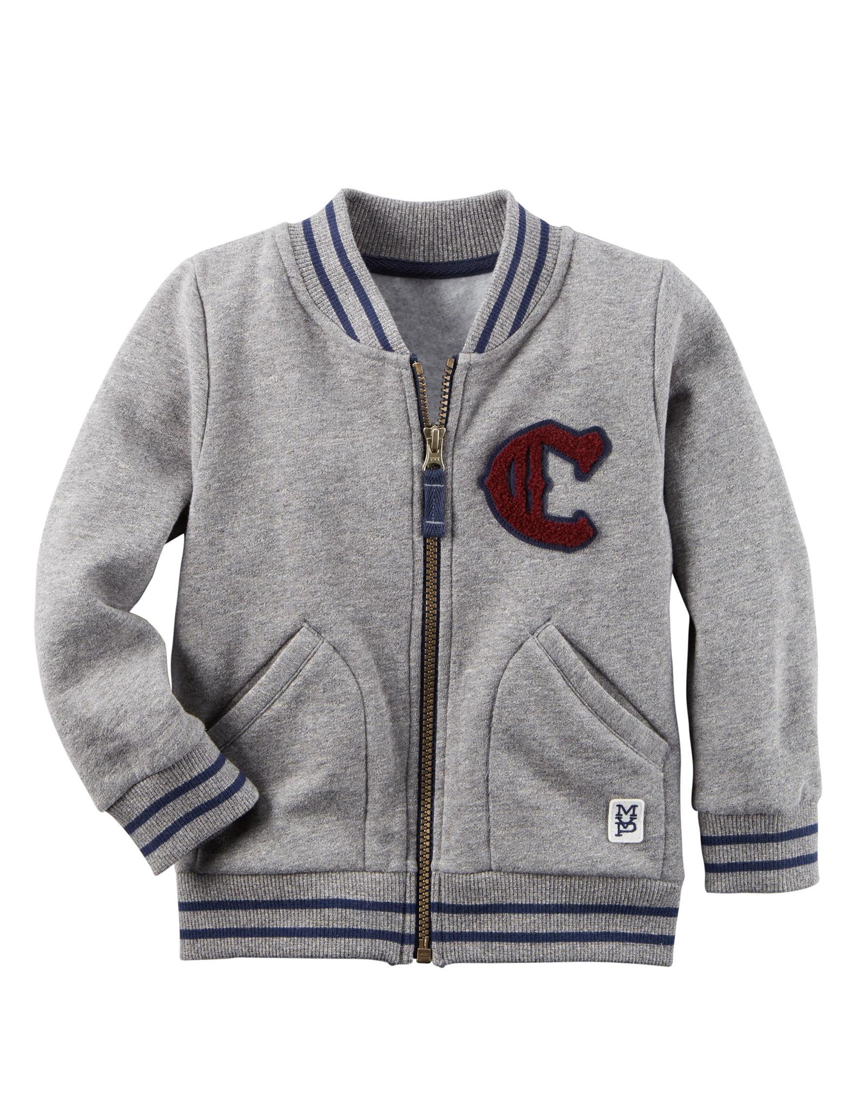 Carter's Heather Grey Lightweight Jackets & Blazers