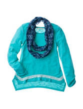 Self Esteem Lace Top with Scarf - Girls 7-16