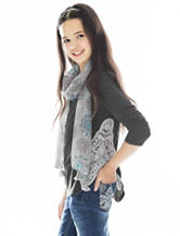 Self Esteem Green Top with Fashion Scarf - Girls 7-16