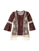 Speechless 2-pc. Crochet Vest & Top with Necklace - Girls 7-16