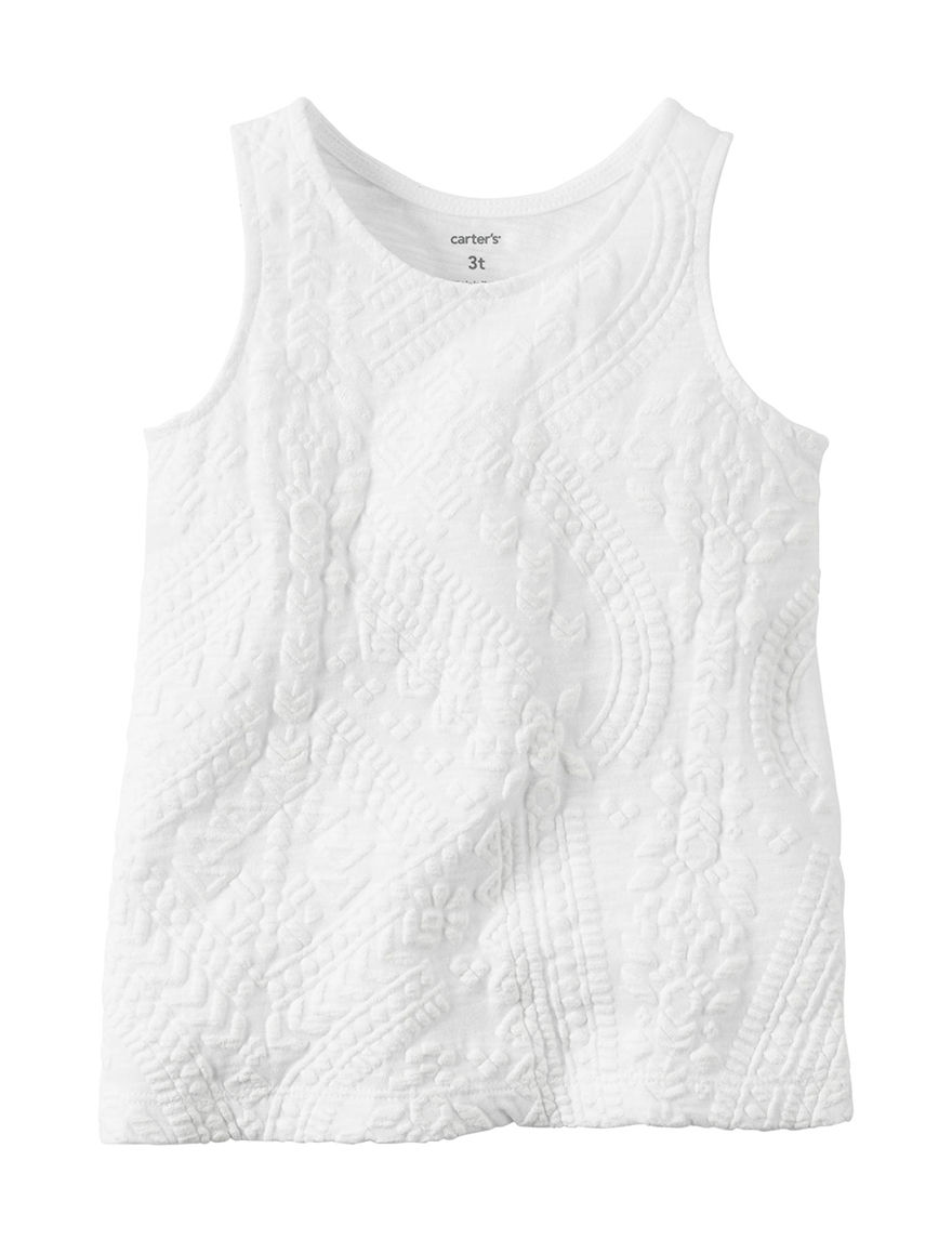 Carter's White Tees & Tanks
