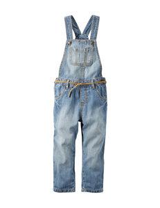 Carter's® Belted Denim Overalls - Toddler Girls