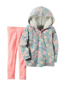 Carter's® 2-pc. Floral Print Hoodie & Leggings Set - Toddler Girls