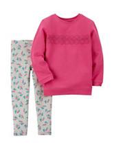 Carter's® 2-pc. Lace Top & Leggings Set – Toddler Girls