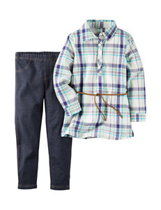 Carter's® 2-pc. Plaid Woven Top & Jeggings Set - Girls 4-8