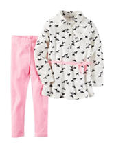 Carter's® 2-pc. Horse Print Top & Legging Set - Girls 4-8
