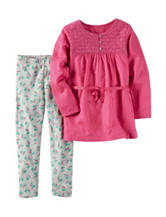 Carter's® 2-pc. Tunic & Floral Print Leggings Set – Girls 4-8