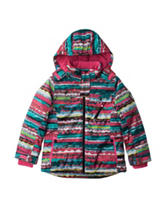 Pink Platinum Striped Snowboard Jacket - Girls 7-16