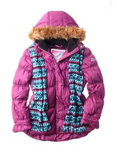 Pink Platinum 2-pc. Puffer Jacket & Scarf Set - Girls 7-16