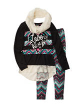 One Step Up 2-pc. Love Always Top & Leggings Set with Scarf - Girls 7-16