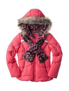 London Fog Black Fleece & Soft Shell Jackets