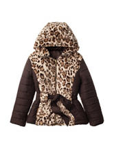 Laguna Wildcat Faux-Fur Puffer Coat - Girls 7-16