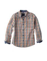 Nautica Plaid Print Woven Shirt - Boys 8-20