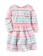Carter's® Fair Isle Print Terry Knit Dress – Toddler Girls