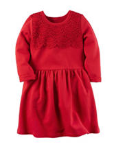 Carter's® Red Lace Terry Knit Dress – Toddler Girls