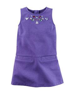 Carters® Purple Rhinestone Dress - Girls 4-8