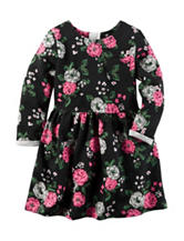 Carter's® Floral Print Terry Knit Dress – Toddler Girls