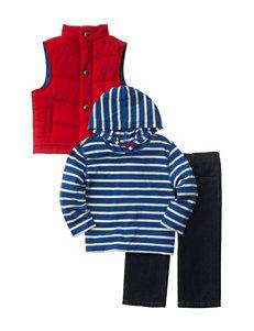 Nautica 3-pc. Puffer Vest & Pants Set - Baby 12-24 Mos.