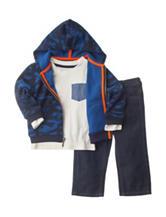 Nautica 3-pc. Fleece Hoodie & Pants Set - Baby 12-24 Mos.