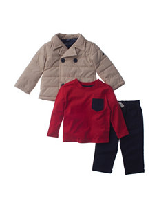 Nautica 3-pc. Quilted Peacoat & Pants Set - Baby 12-24 Mos.