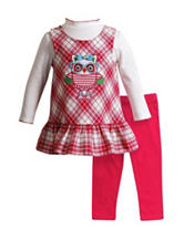Youngland 2-pc. Owl Print Jumper &  Leggings Set - Baby 12-24 Mos.