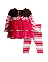 Youngland 2-pc. Gingerbread Top & Legging Set – Baby 12-24 Mos.
