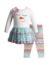 Youngland 2-pc. Snowman Top & Leggings Set - Baby 12-24 Mos.