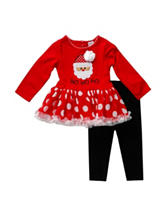 Youngland 2-pc. Santa Tutu Top & Leggings Set - Baby 12-24 Mos.